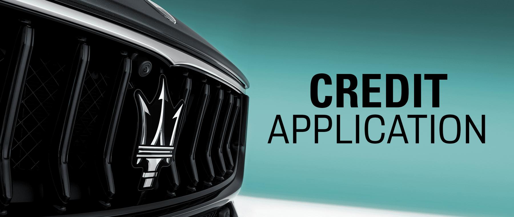 Maserati Credit Application