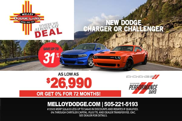 SPECIAL New Dodge Charger or Challenger
