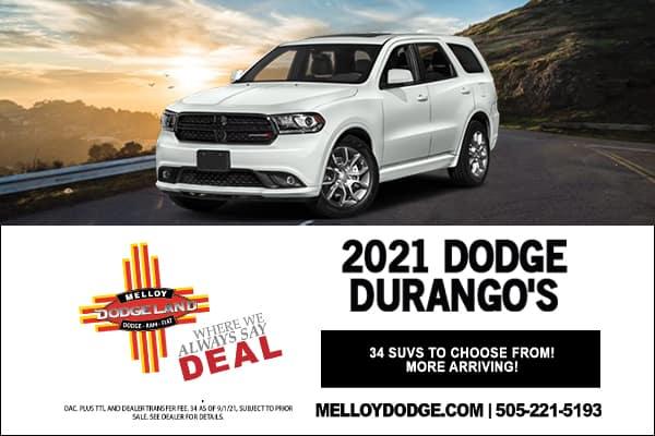 SPECIAL New Dodge Durango