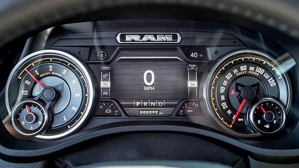 Lifted Ram Truck dashboard