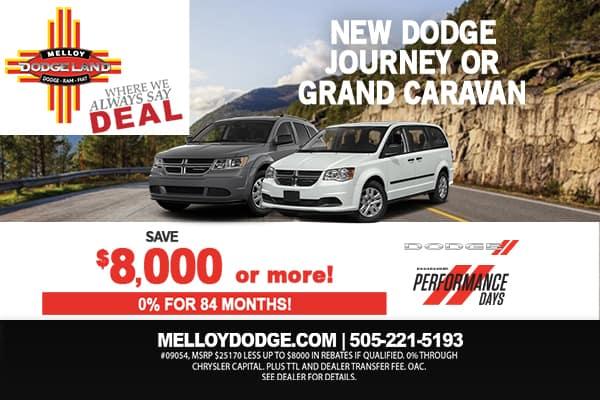 SPECIAL New Dodge Journey or Grand Caravan