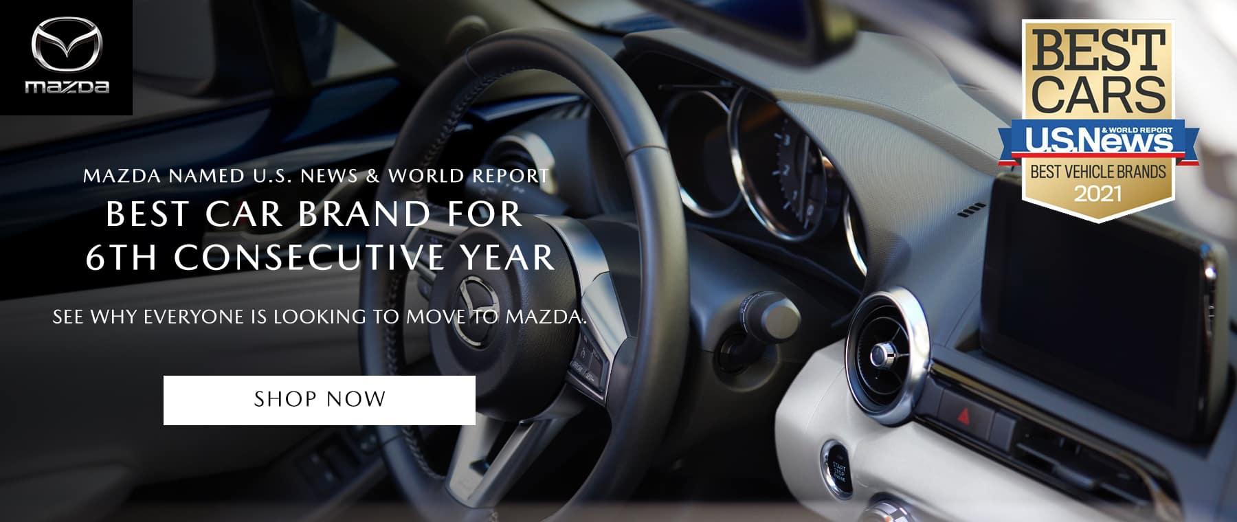 MAZDA NAMED U.S. NEWS & WORLD REPORT BEST CAR BRAND