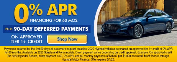 0% APR Financing for 60 mos.