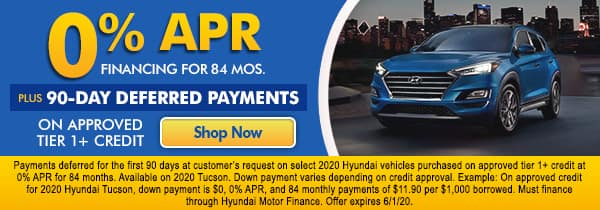 0% APR Financing for 84 mos.