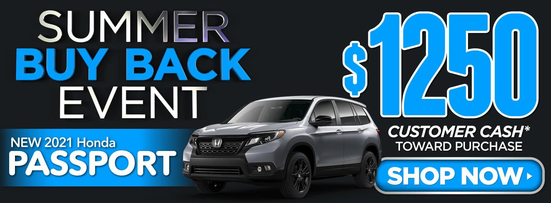 New 2021 Honda Passport - $1250 Customer Cash - Shop Now
