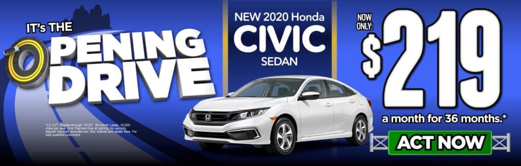 New 2020 Honda Civic Sedan