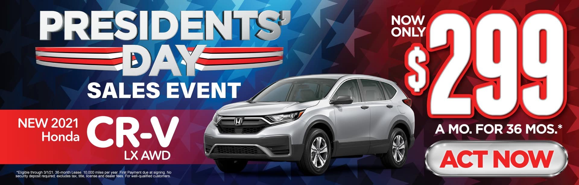 New 2021 Honda CR-V - Only $299 a month - Act Now