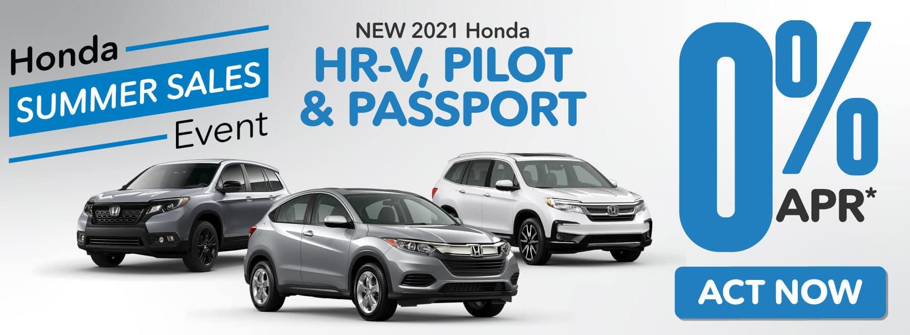 New 2021 Honda HR-V, Pilot, & Passport | 0% APR | ACT NOW