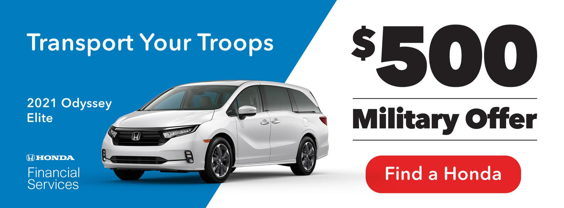 Transport Your Troops — $500 Military Offer