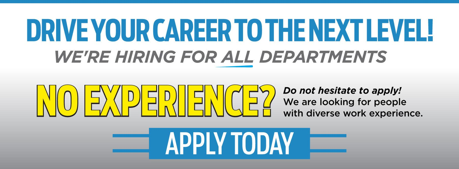 Drive Your Career to the Next Level - Apply Now