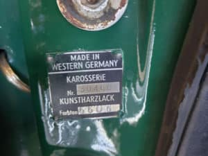 Porsche Restoration Original German Sticker