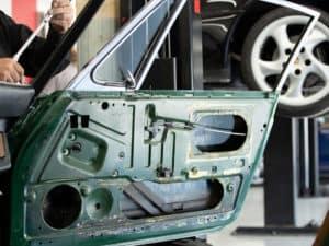 Stripped Porsche Door Frame