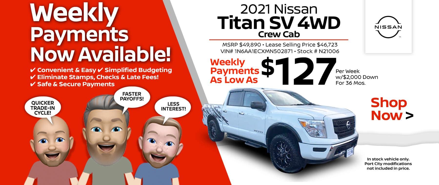 2021 Nissan Titan Port City Nissan