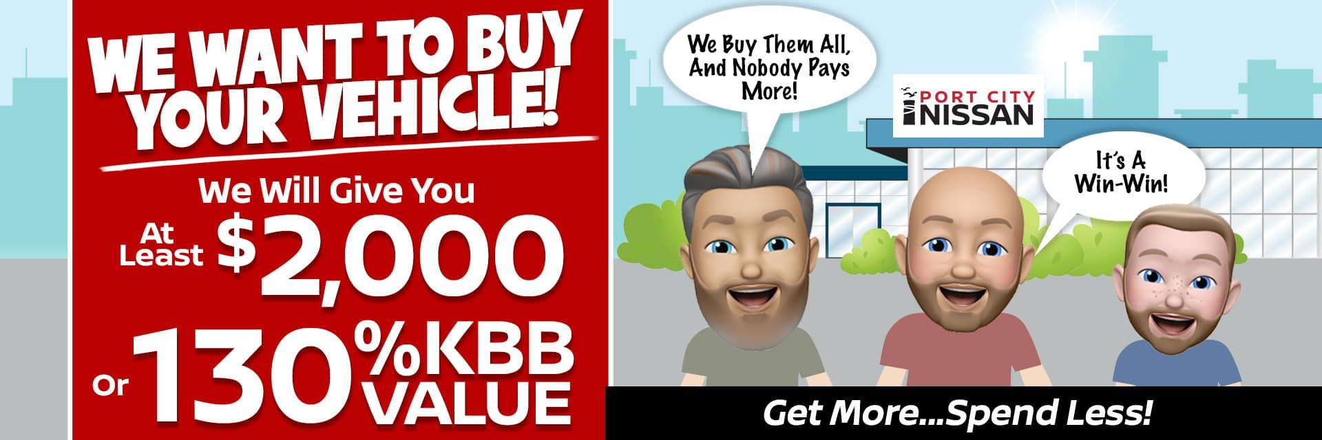 130% KBB Value Port City Nissan