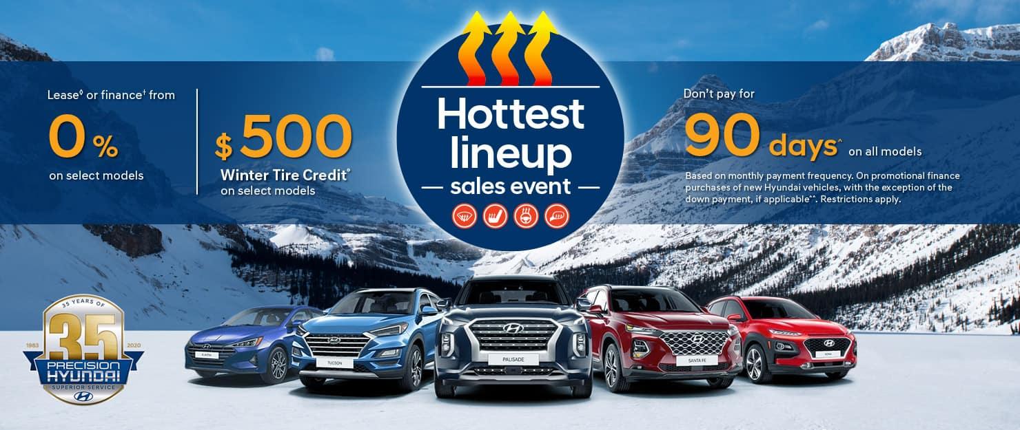 Precision Hyundai's Hottest Lineup Sales Event