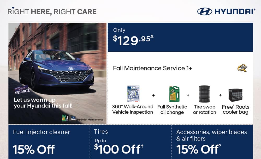 Hyundai 2020 Fall Service Specials
