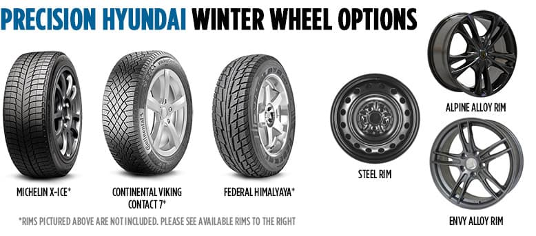 Precision Hyundai Winter Wheel Options