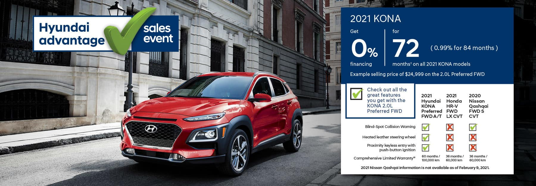 2021 Hyundai Kona - Hyundai Advantage Sales Event