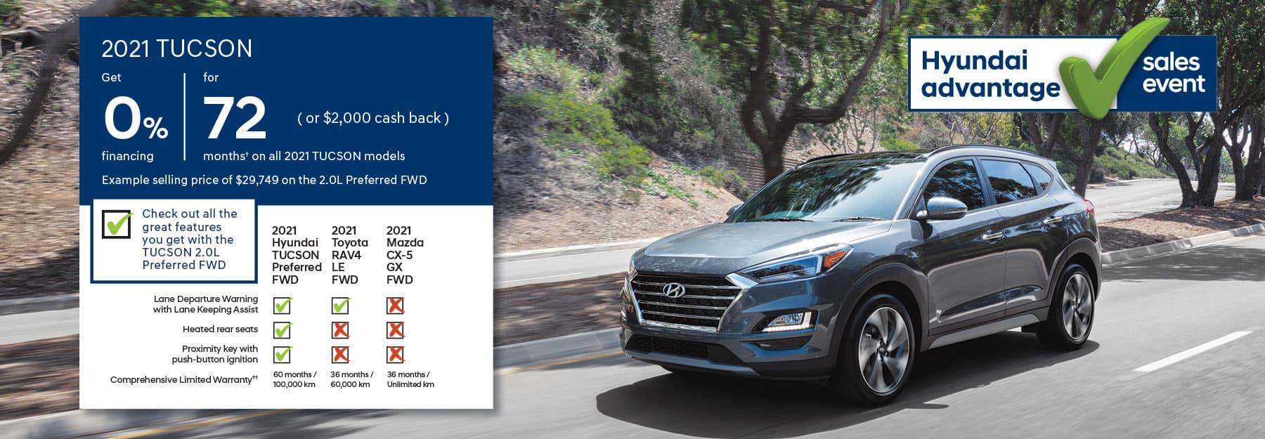 2021 Hyundai Tucson - Hyundai Advantage Sales Event