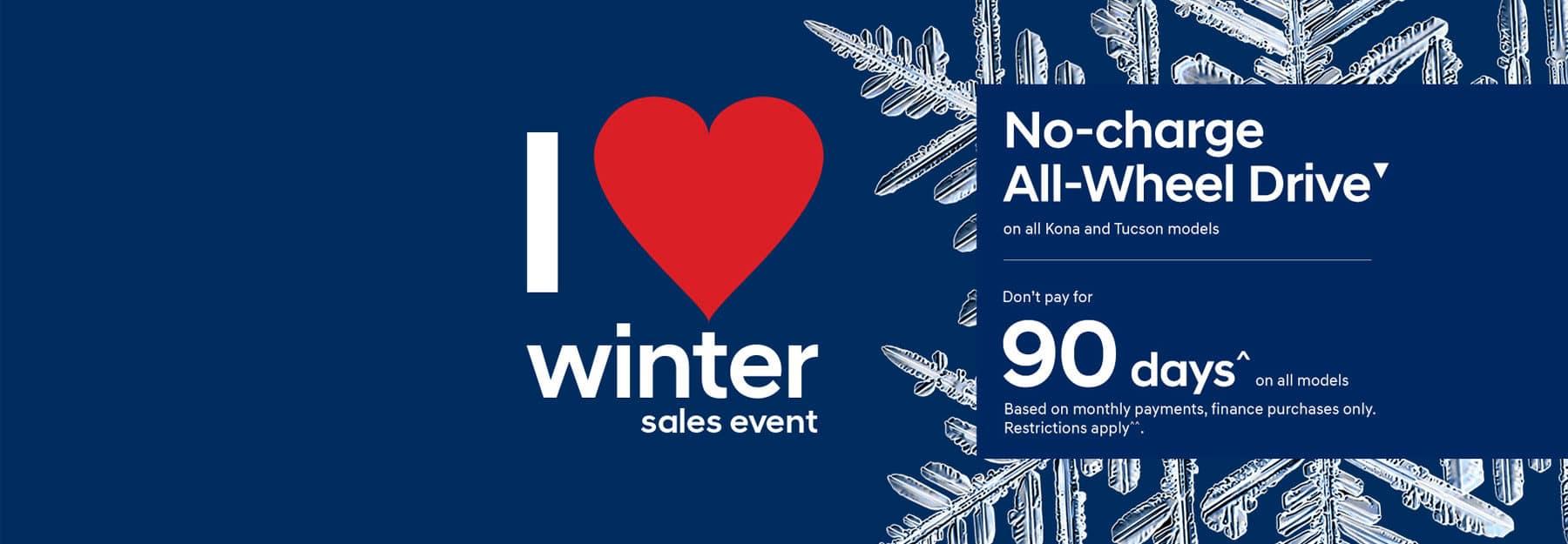 I Love Winter Sales Event at Precision Hyundai