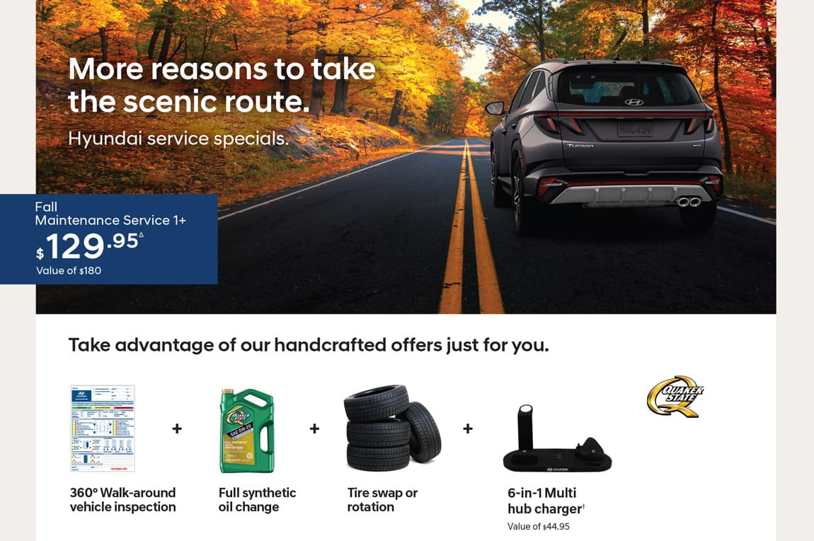 Precision Hyundai Fall Maintenance Specials