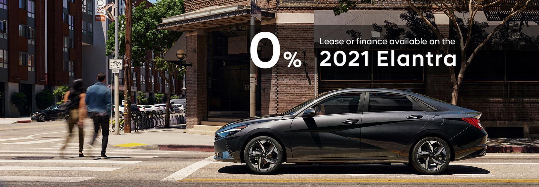 0% Lease or Finance on 2021 Elantra models