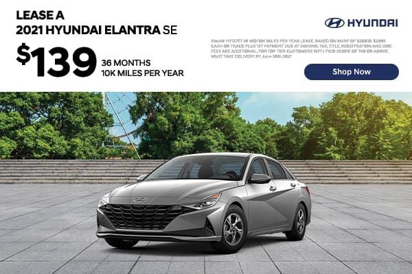 Lease a 2021 Hyundai Elantra SE