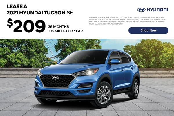 Lease a 2021 Hyundai Tucson SE