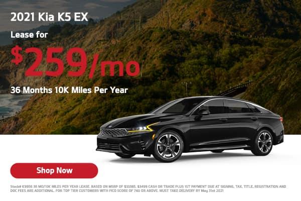 Lease a 2021 Kia K5 EX