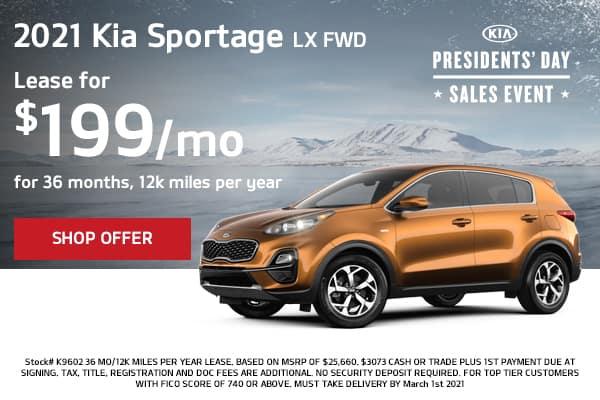 Lease a 2021 Kia Sportage LX FWD