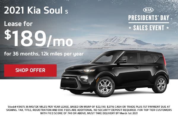 Lease a 2021 Kia Soul S