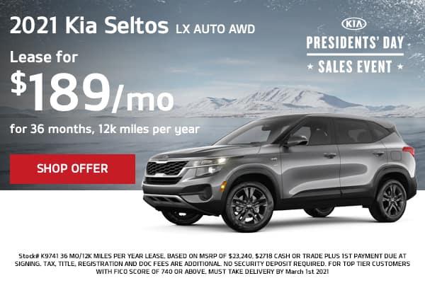 Lease a 2021 Kia Seltos LX Auto AWD