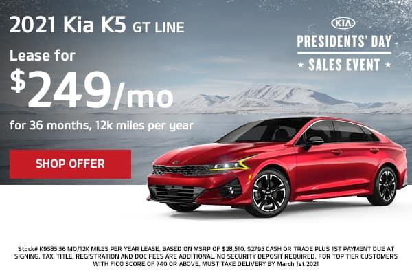 Lease a 2021 Kia K5 GT Line