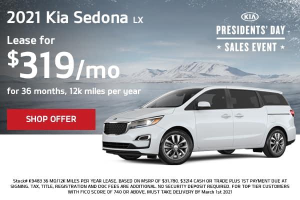 Lease a 2021 Kia Sedona LX