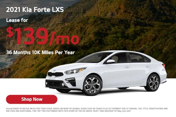 Lease a 2021 Kia Forte LXS