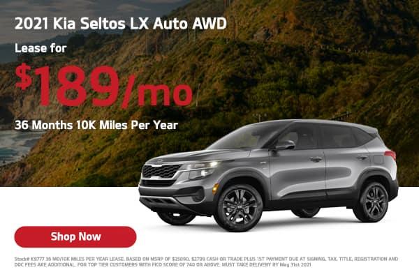 Lease a 2021 Kia Seltos S Auto AWD