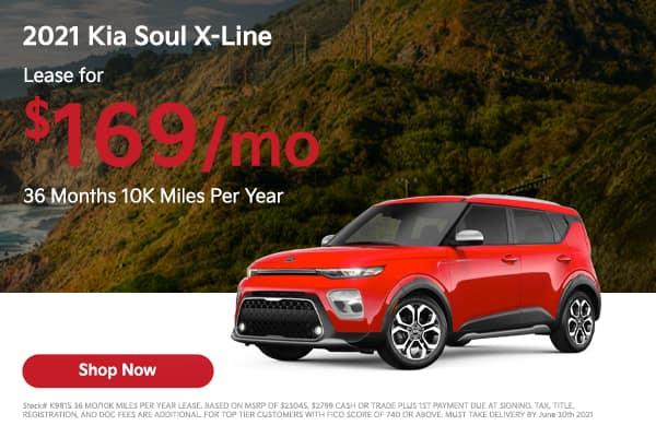 Lease a 2021 Kia Soul X-Line
