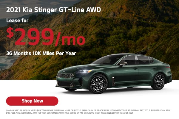 Lease a 2021 Kia Stinger GT-Line AWD