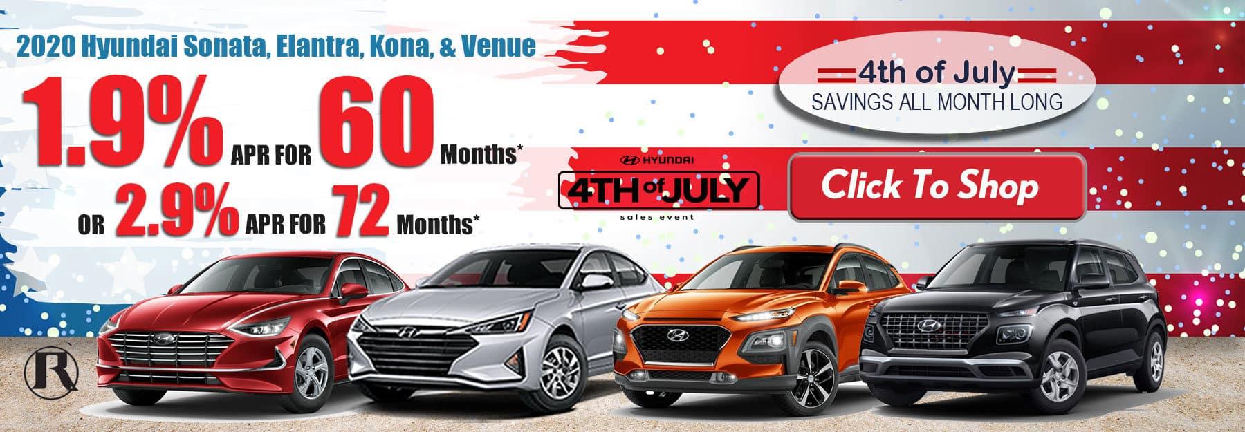 2020 Hyundai Sonata, Elantra, Kona, Venue