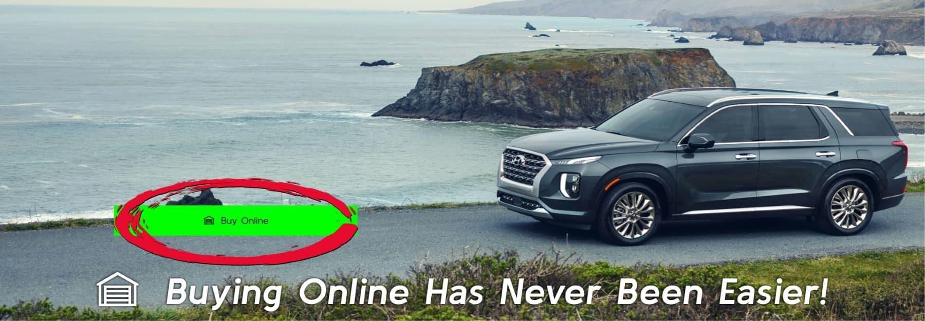 Silver Hyundai SUV on the beach