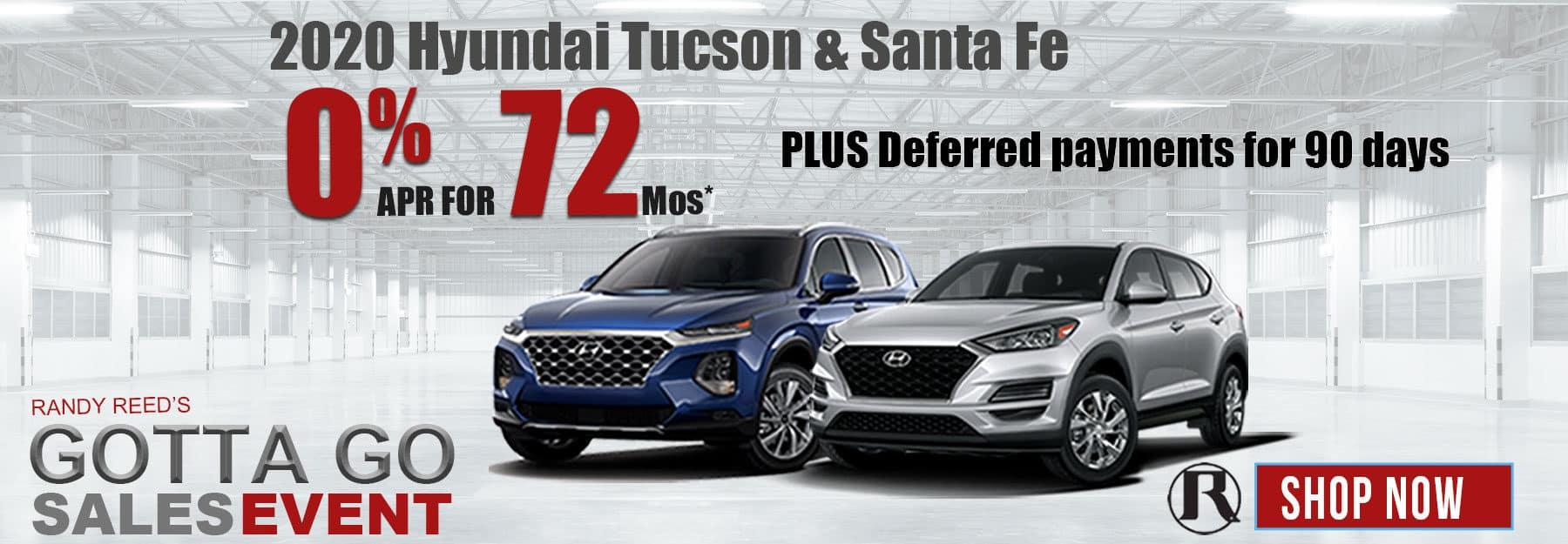 2020 Hyundai Santa Fe and 2020 Hyundai Tucson