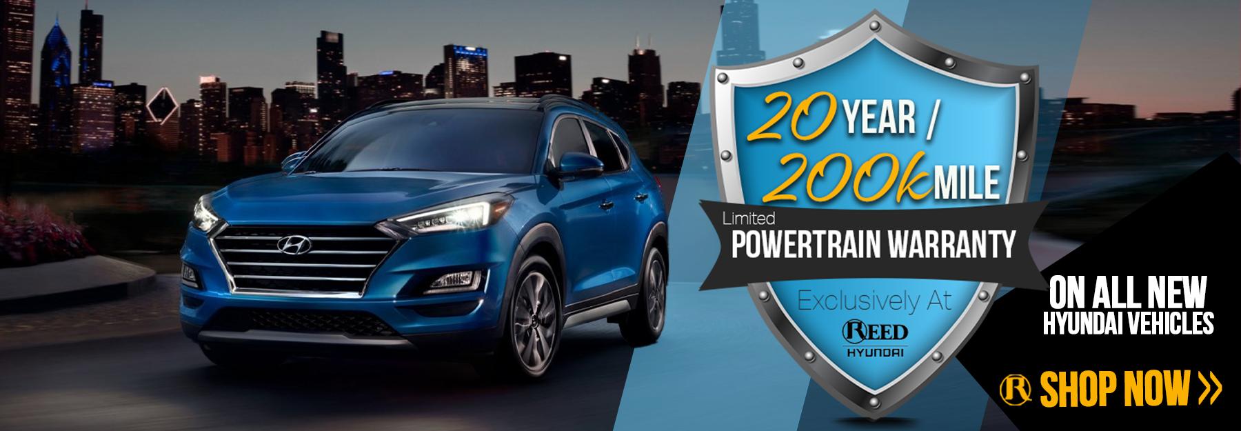 New Hyundai Warranty - 20Year and 200,000 Mile Warranty