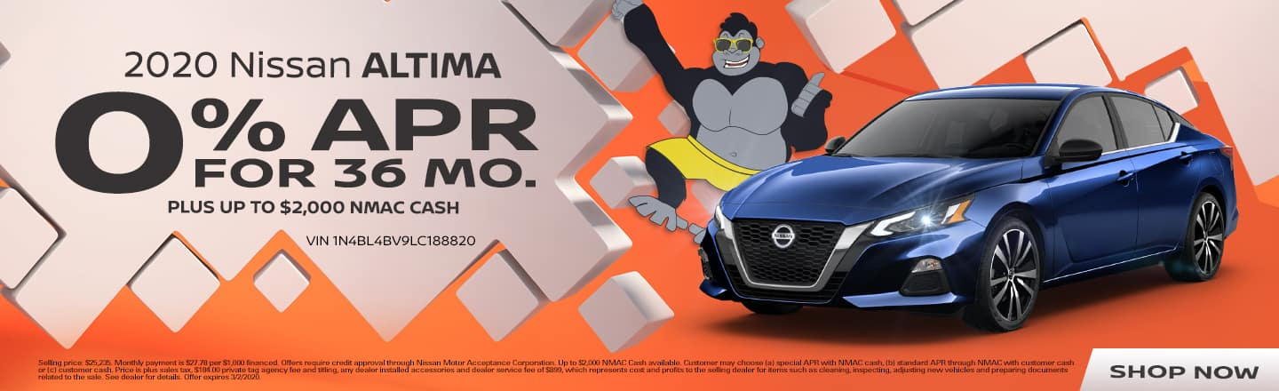 2020 Nissan Altima | 0% APR For 36 Months Plus Up To $2,000 NMAC Cash