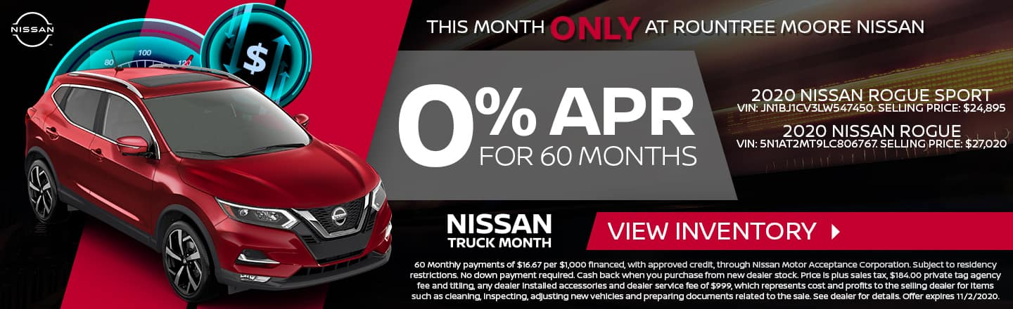 This Month Only At Rountree Moore Nissan | 0% APR For 60 Months | Nissan Truck Month