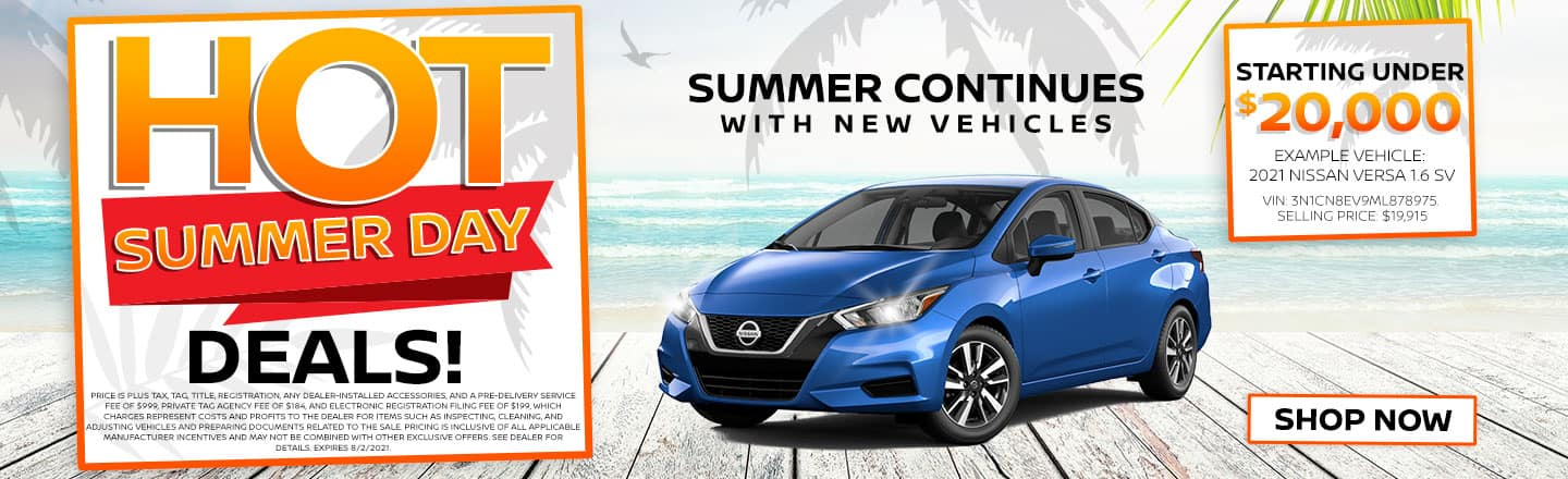 Hot Summer Day Deals! | Summer Continues With New Vehicles Starting Under $20,000