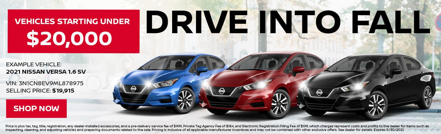 Drive Into Fall | Vehicles Starting Under $20,000
