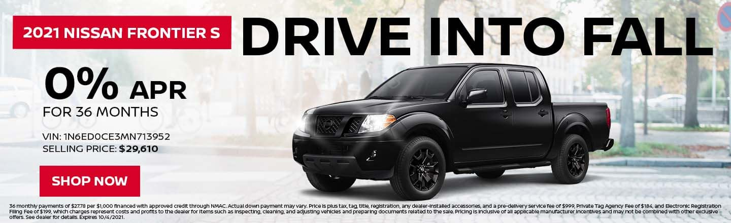 Drive Into Fall | 2021 Nissan Frontier S | 0% APR For 36 Months