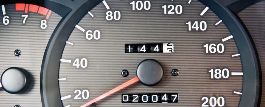 Odometer on used car
