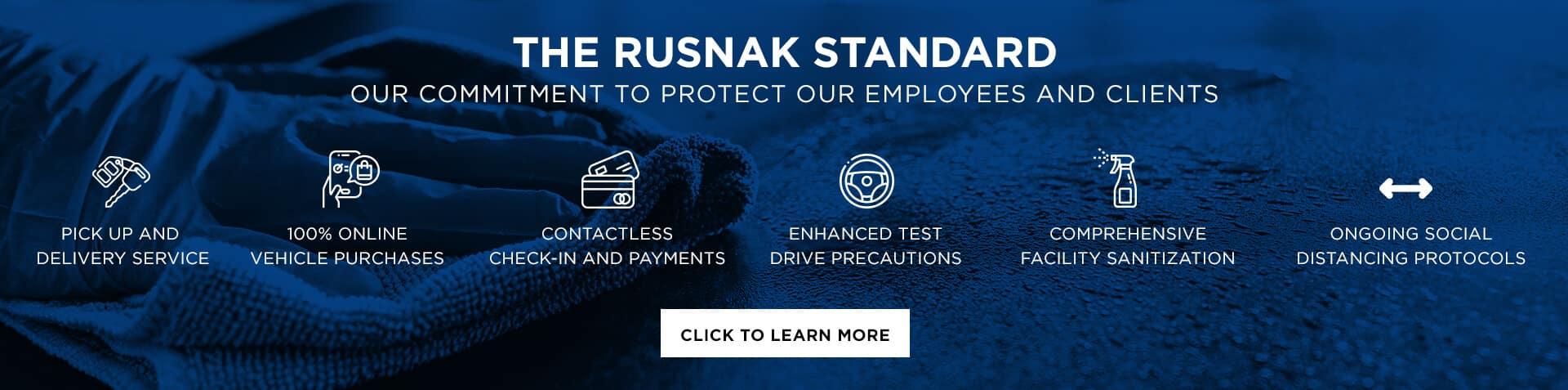 Rusnak Standard banner graphic