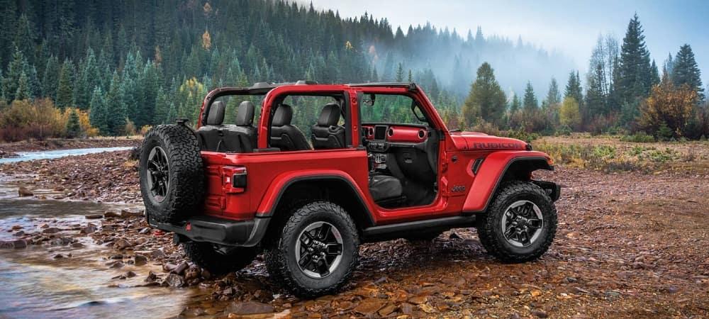 2020 Jeep Wrangler in woods